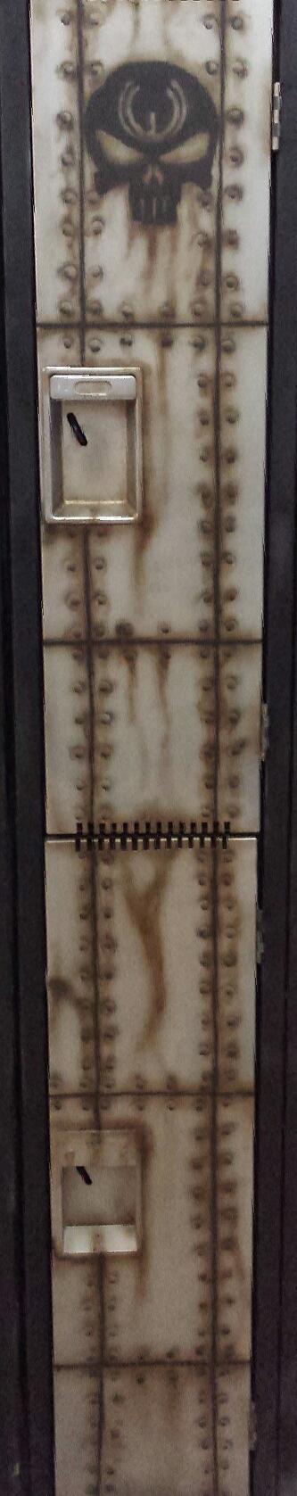 Ironsight Kustoms steel rusted locker by moose-lee