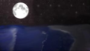 Moon Over Ocean by CthulhuFury