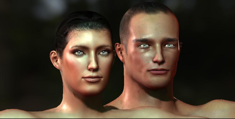 Skin Shader test on multiplatform by PixelPimpz