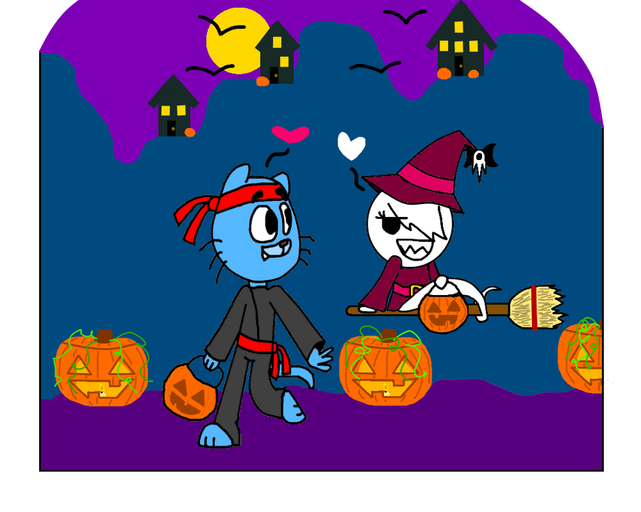 gumball x carrie halloween contest entry by 1paintsplash1 - The Amazing World Of Gumball The Halloween