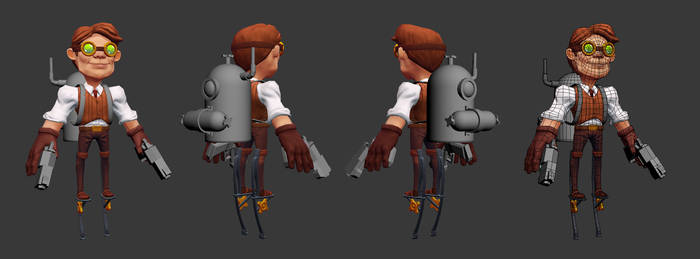 Steam punk character wip