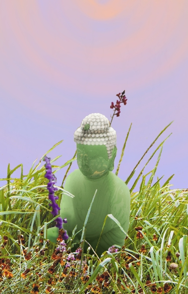 buddha in the meadow... by DaWonderer