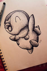 Piplup Dot Sketch by dumboxxx