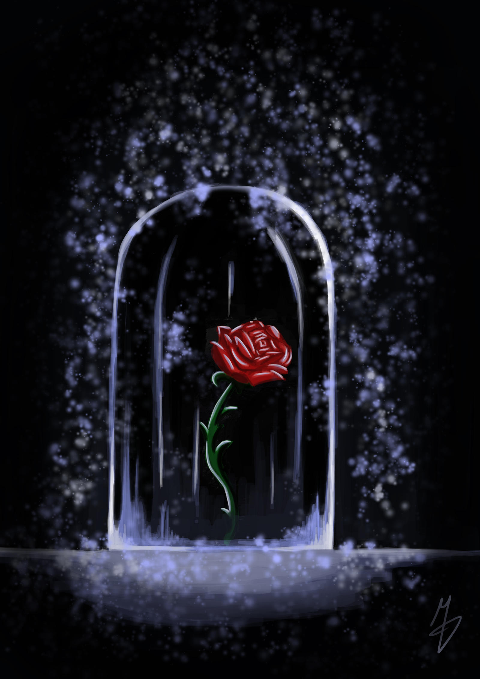 Rose under glass case by milutinmdj on deviantart for Rose under glass