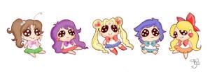 Sailor Scout Chibi Dolls