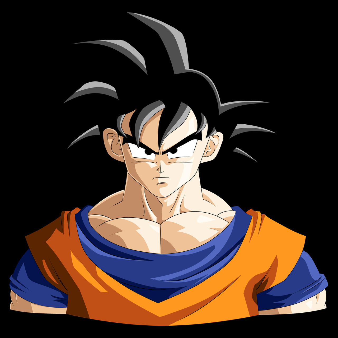 Goku - Normal form. by b36one on DeviantArt