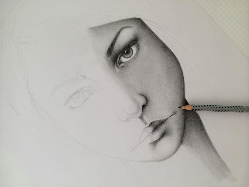 Work in Progress - Realistic Drawing by Maddie-Marie