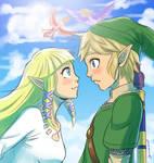 Zelda and Link TLoZ: Skyward Sword