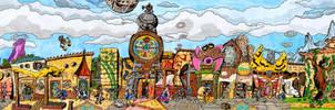 Clock Town - Tingle's Rosy Rupeeland style by Skull-the-Kid