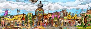 Clock Town - Tingle's Rosy Rupeeland style