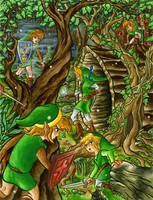 Ten years in The Lost Woods by Skull-the-Kid