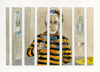 The fanciest jailed man in Milan by Skull-the-Kid