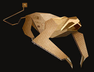 Cardboard sloth computer by Skull-the-Kid
