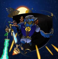 Captain Pappagone, the legendary Cosmic Corsair