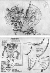 Captain Pappagone sketches