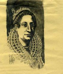 Portrait of a Lady by Artemisia Gentileschi, ink