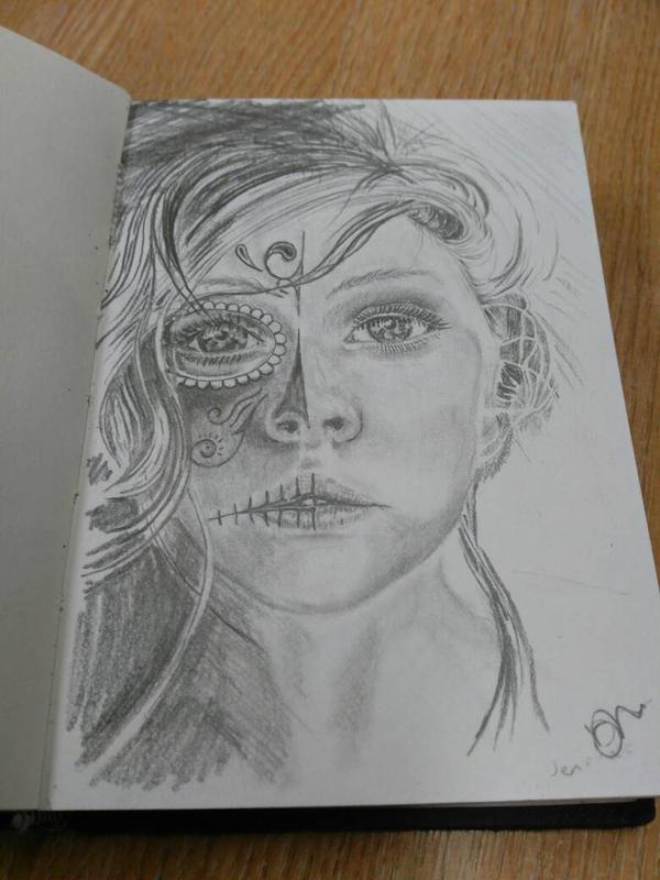 Candy Skull sketch by wetsocksmell