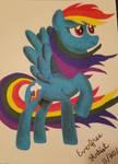 Rainbow Dash Sharpie by EverfreeArtist