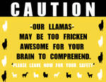 CAUTION LLAMAS