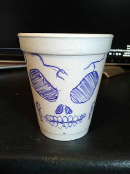 Skull Cup by eyesidol