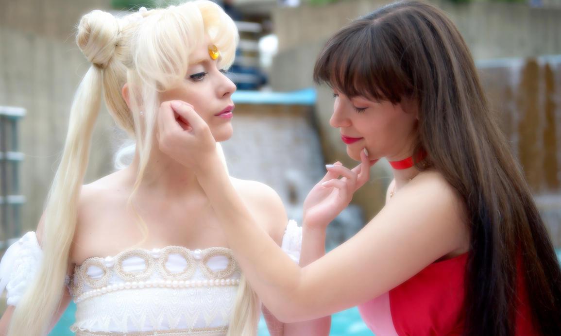 Princess Serenity and Princess Mars by kou-usagi