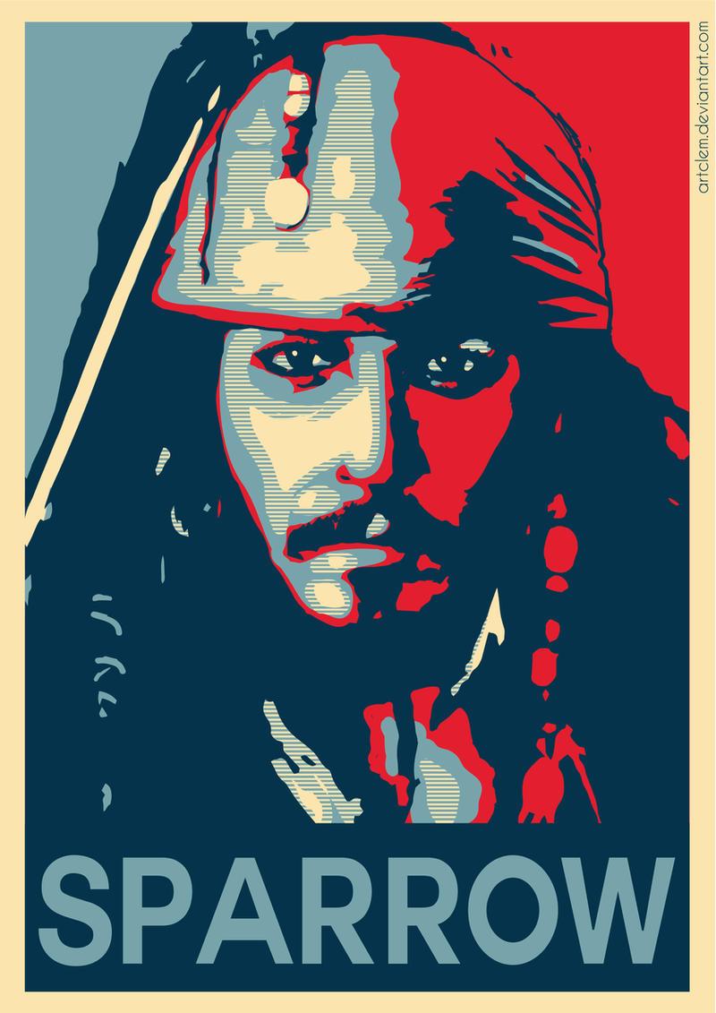Captain Jack Sparrow - Hope Poster by ArtClem on DeviantArt