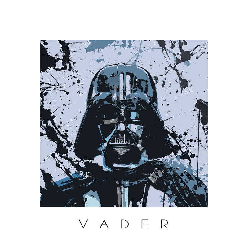 Star Wars splash portrait I - Darth Vader