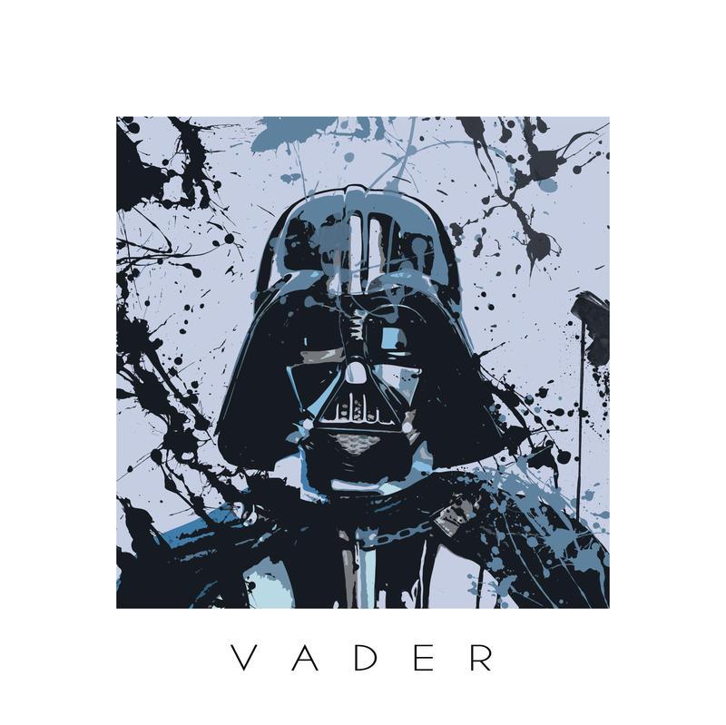 Star Wars splash portrait I - Darth Vader