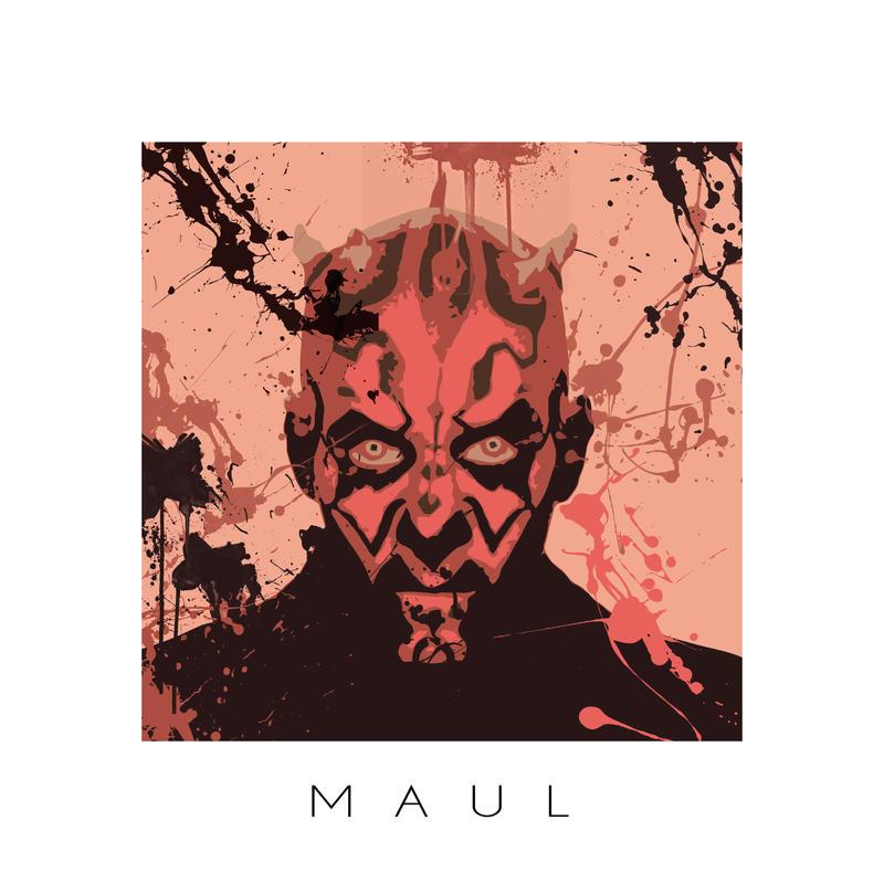 Star Wars portrait IV - Darth Maul by ArtClem