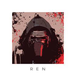 Star Wars portrait XII - Kylo Ren by ArtClem