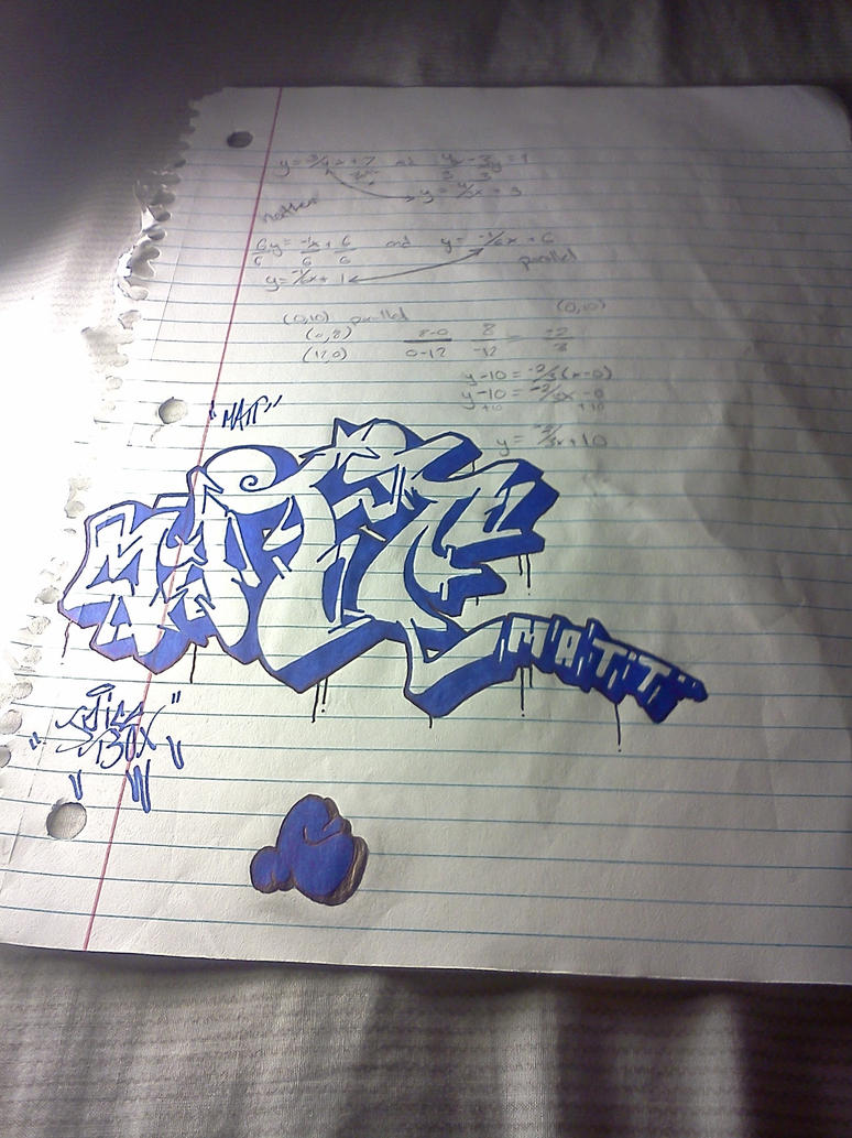Matt Graffiti Drawing by Juicebox617