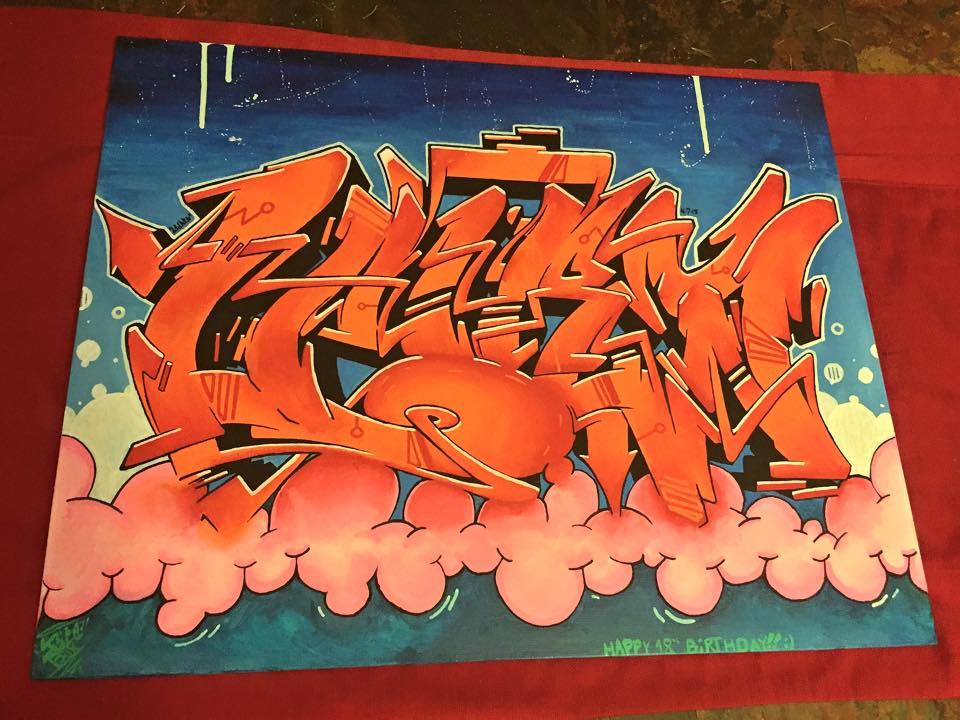 Lauren- Graffiti Canvas by Juicebox617