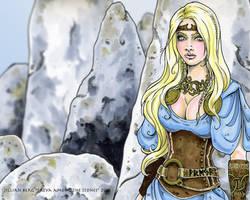 Freya Among The Stones by Odins-Girl