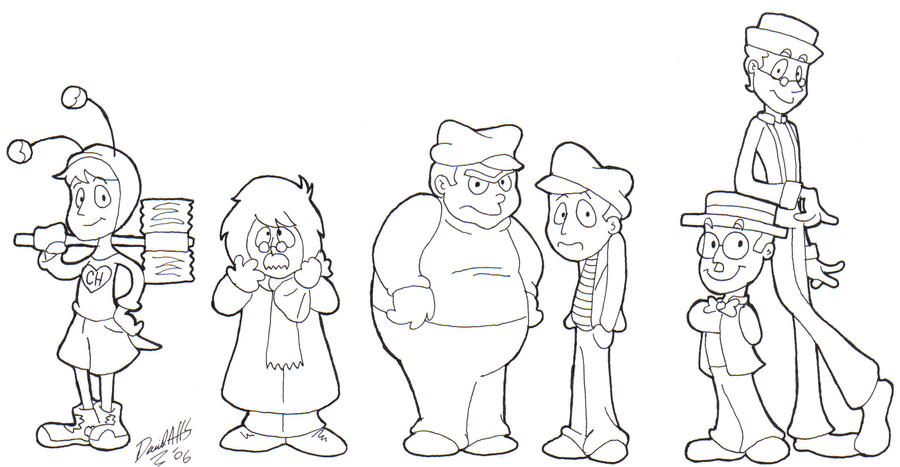La Popis Animado Para Colorear