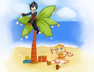 SS: Oh Christmas Palm by lalathekoala