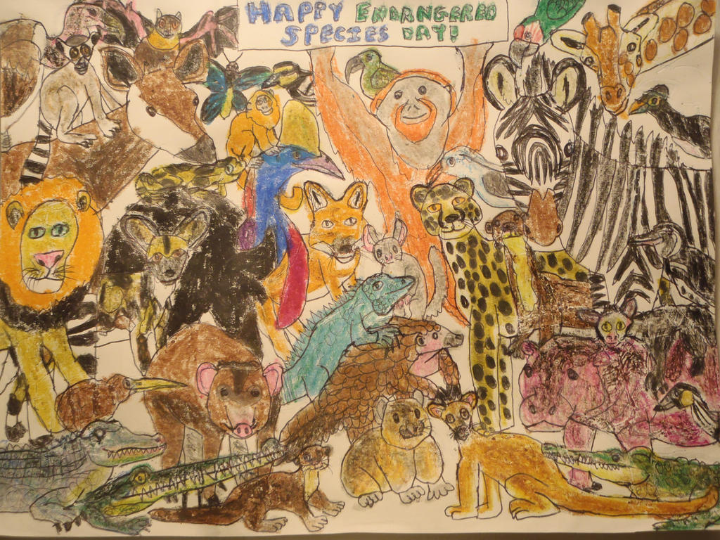 Endangered Collage for Endangered Species Day by ...