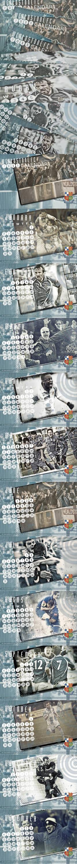 Wealdstone FC 2011 Calendar