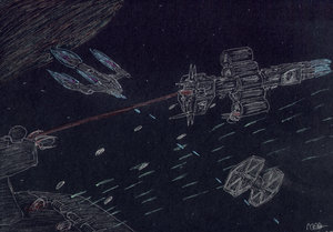 omega class destroyer Vs ISD by Babylon-5-Club