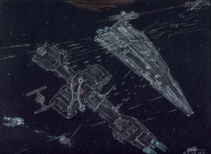 omega class destroyer Vs ISD 2 by Babylon-5-Club
