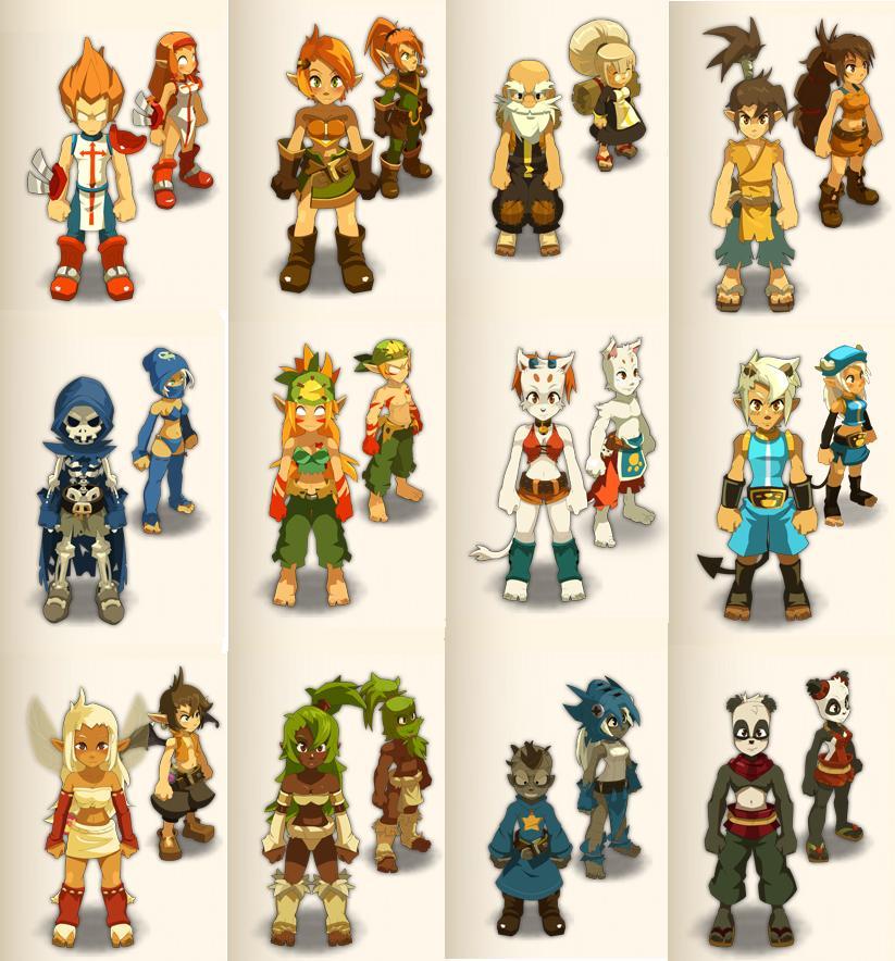 3d Character Design Course : Dofus characters by meuhlandeur on deviantart