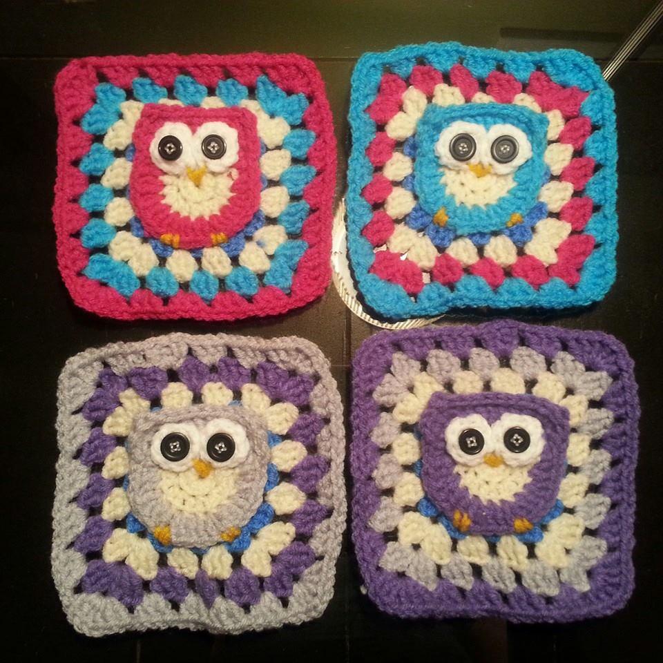 Handmade Crochet Owl Granny Squares by dragongoddess on ...