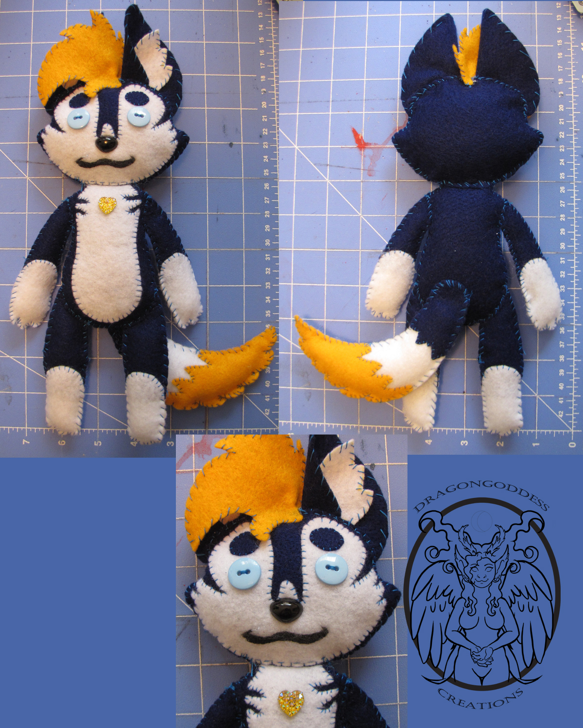 Husky Plushie Commission by dragongoddess