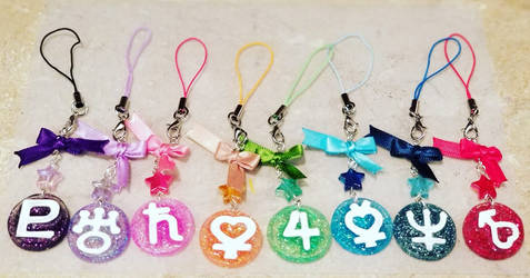 Handmade Resin Sailor Scout Cell Phone Keychain