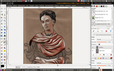 Frida Kahlo-Gimp paint studio