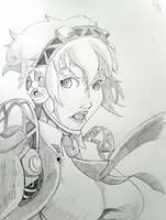 Work Sketch - Persona Aigis by ravenclawtom