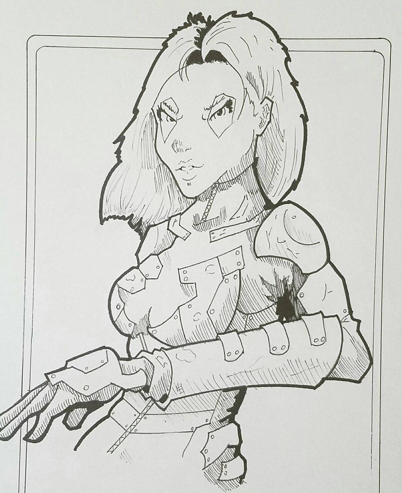 Gamora - Inked by ravenclawtom