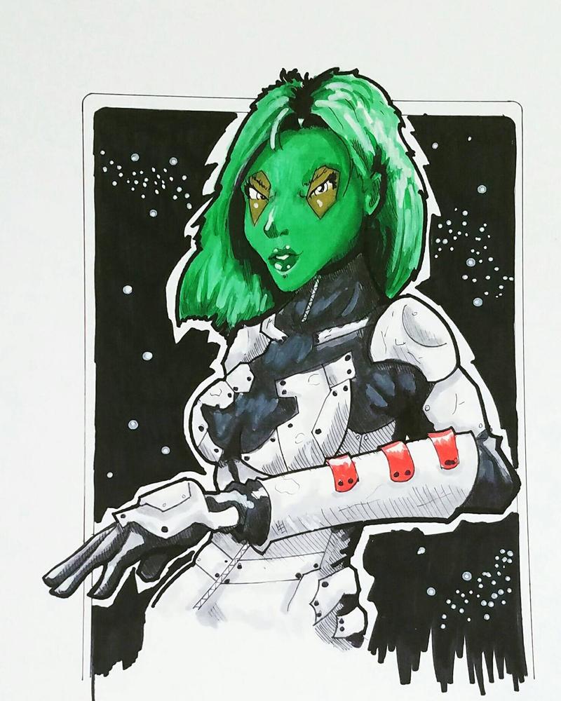 Gamora Colored by ravenclawtom