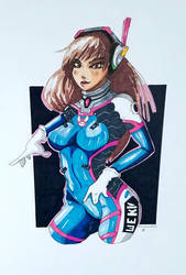 Dva from Overwatch by ravenclawtom