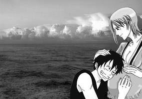 Luffy Nami Love by Ellychan88