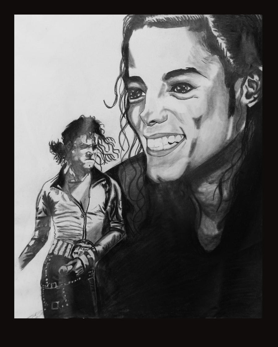 Michael by artistas - Página 2 Michael_Jackson_Charcoal_by_Daniel_Murrell